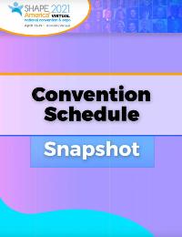 Convention Schedule Snapshot